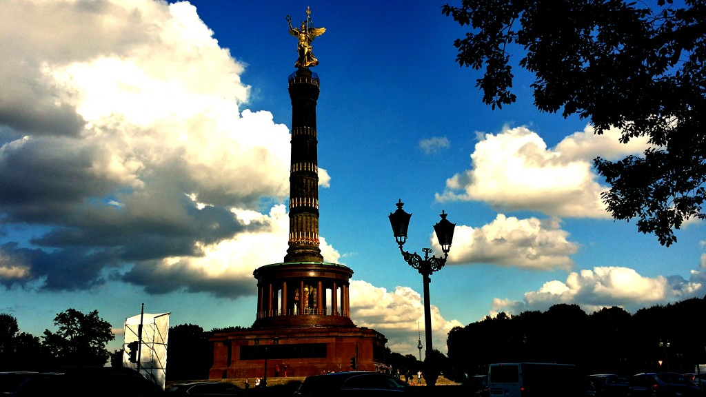 The Victory Column in Downtown Berlin.