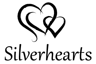 Silverhearts Logo - Black and White