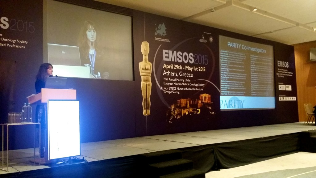 Dr. Michelle Ghert speaking at the 2015 EMSOS Annual Meeting.