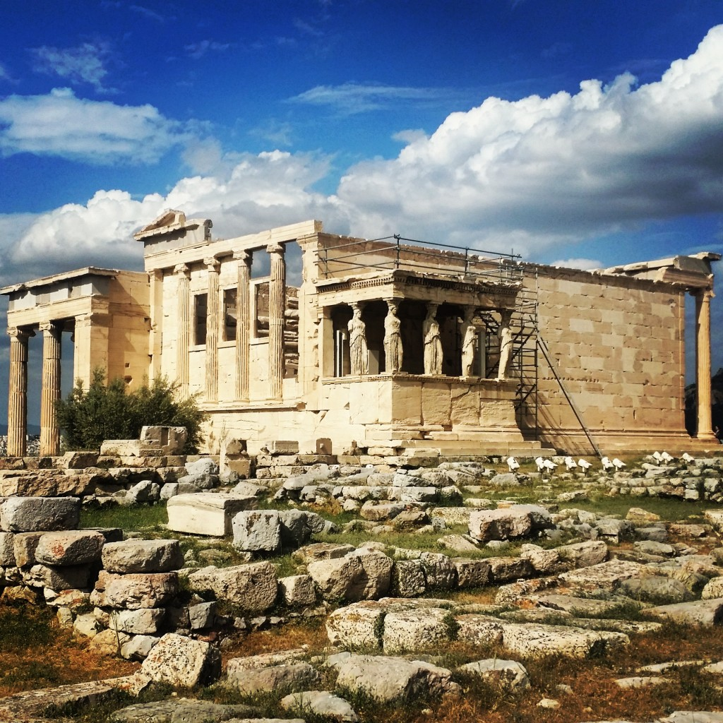 The Temple of Athena Nike on the Acropolis in Athens, Greece.