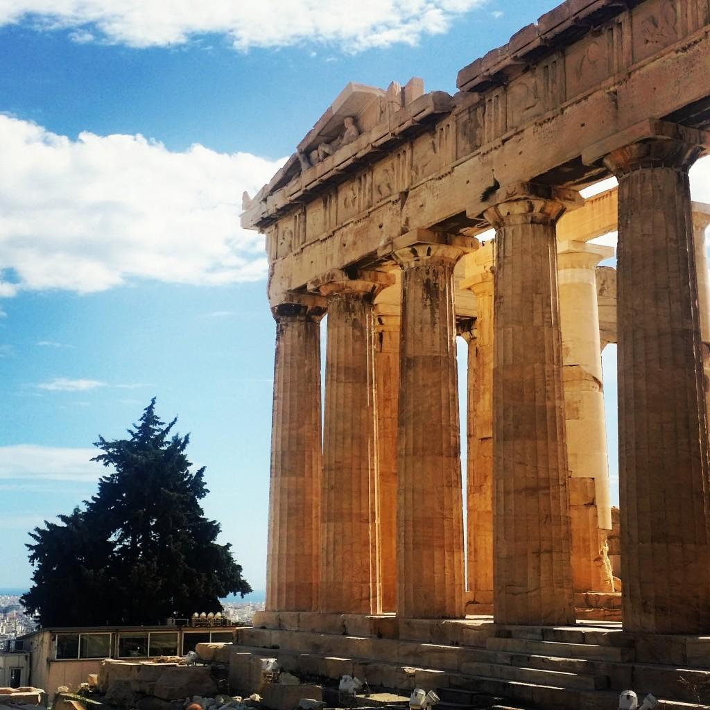 The Parthenon on the Acropolis in Athens, Greece.