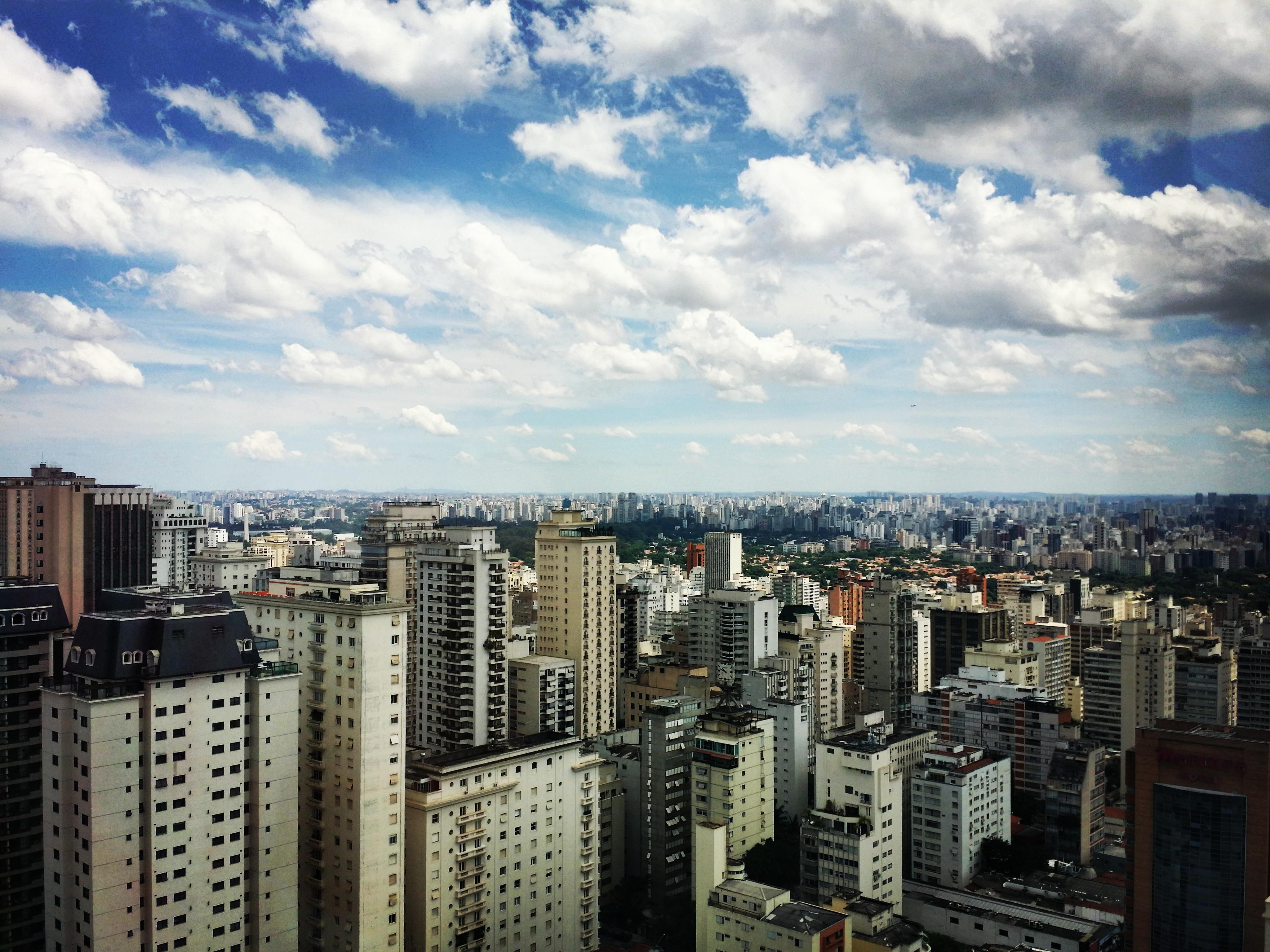 The skyline of São Paulo, Brazil