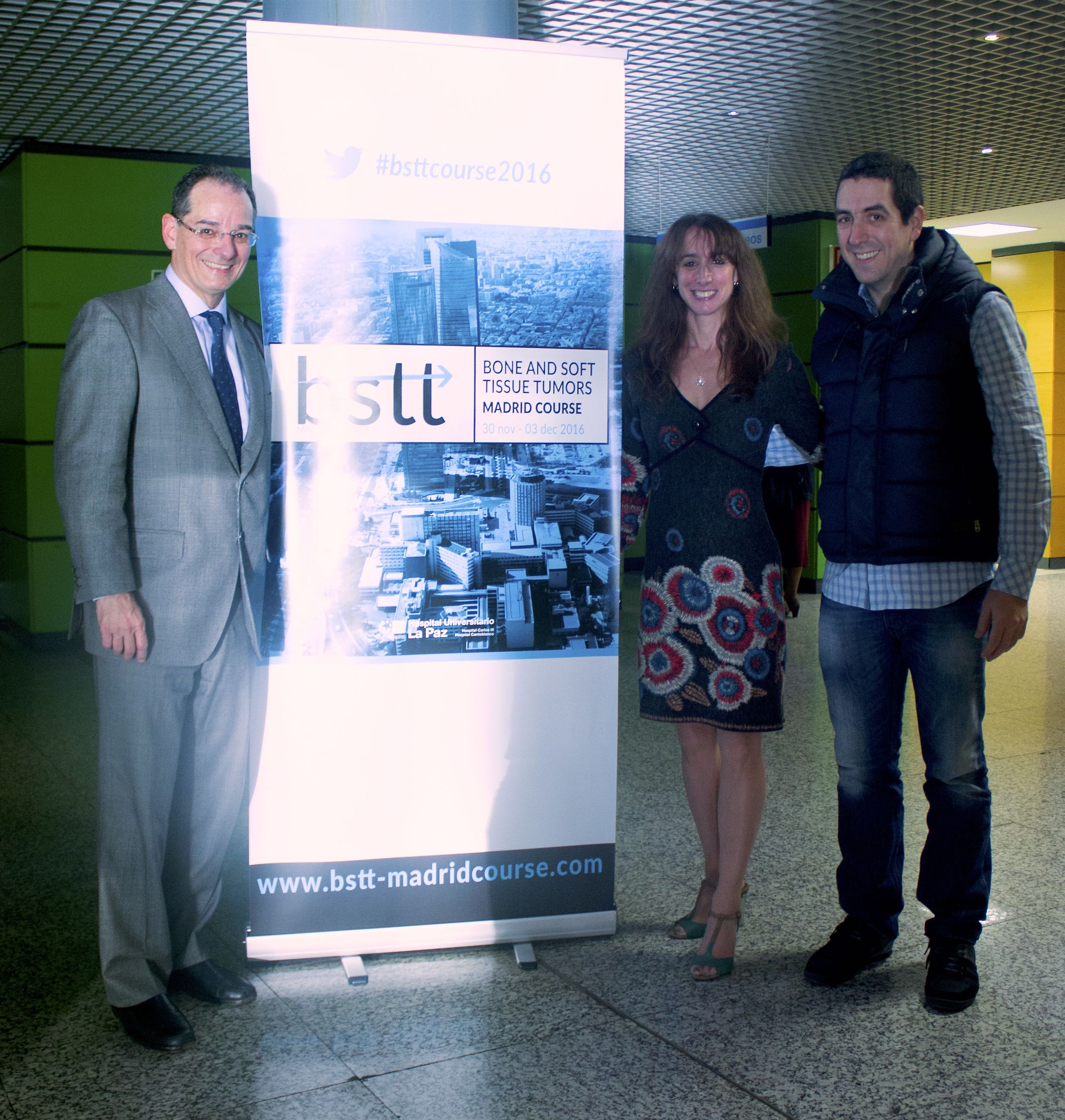 Dr. Eduardo Ortiz-Cruz, the BSTT Scientific Secretariat, Dr. Michelle Ghert, and Dr. Roberto Vélez, the PARITY European Chief Investigator, together in Madrid.